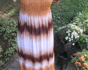 Long dress, animal print dress, leopard print, feminine animal print, size M/L