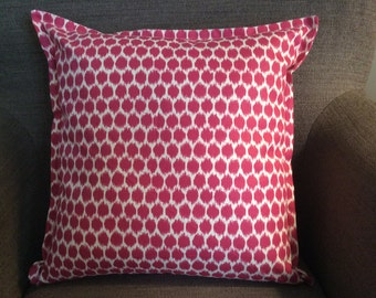 """Raspberry Hot Pink Geometric Decorative Pillow Cover Throw Pillow With Flange 18"""""""
