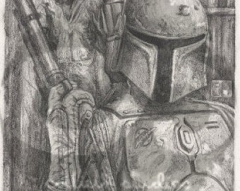 "Star Wars Boba Fett and Han Solo in Carbonite ""The Bounty"" Unlimited Edition Print"