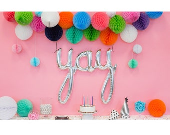 Engagement Party Decorations | Letter Balloon | Photobooth Backdrop | Yay Balloon | Bachelorette Party Decorations | Engagement Party Ideas