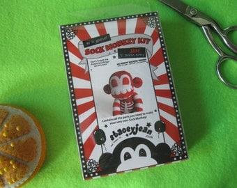 Skeleton Sock Monkey Plush D.I.Y. Kit - JAM - Make It Yourself - No Sewing Machine Needed!
