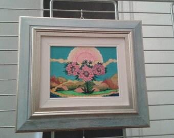 naïve painting, oil technique, frame inclusive