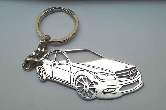 Mercedes keychain mercedes benz keychain by tagsandkeychains for Mercedes benz key chain