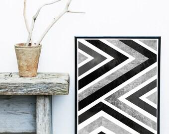 Geometric Art, Scandinavian Print, Geometric Wall Art, Art Print,  Giclee print, Abstract Wall Art,  large Print, Abstract Art Print