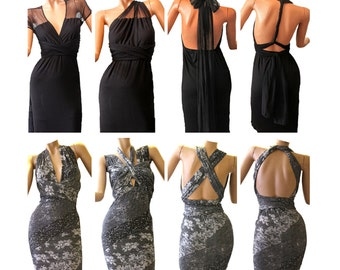 Infinity dress / repositionnable / Custom Order / Personalized / Tailored / Party Evening dress / bridesmaid dress / wedding dress