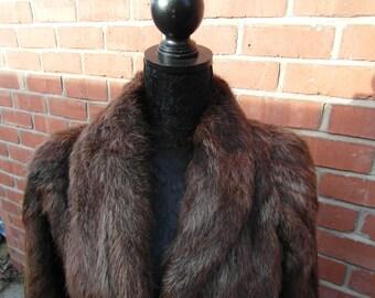 VINTAGE FUR - Beaver Fur Coat - UK Shipping only.
