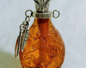 Vintage Amber Colored Perfume Bottle