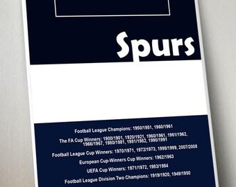 Spurs A3 Digital Art Print, Tottenham Hotspur