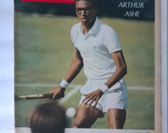 BEATLES 1968 LIFE Magazine Article by Hunter Davies with Fabulous Pictures Excellent Condition Arthur Ashe on Cover