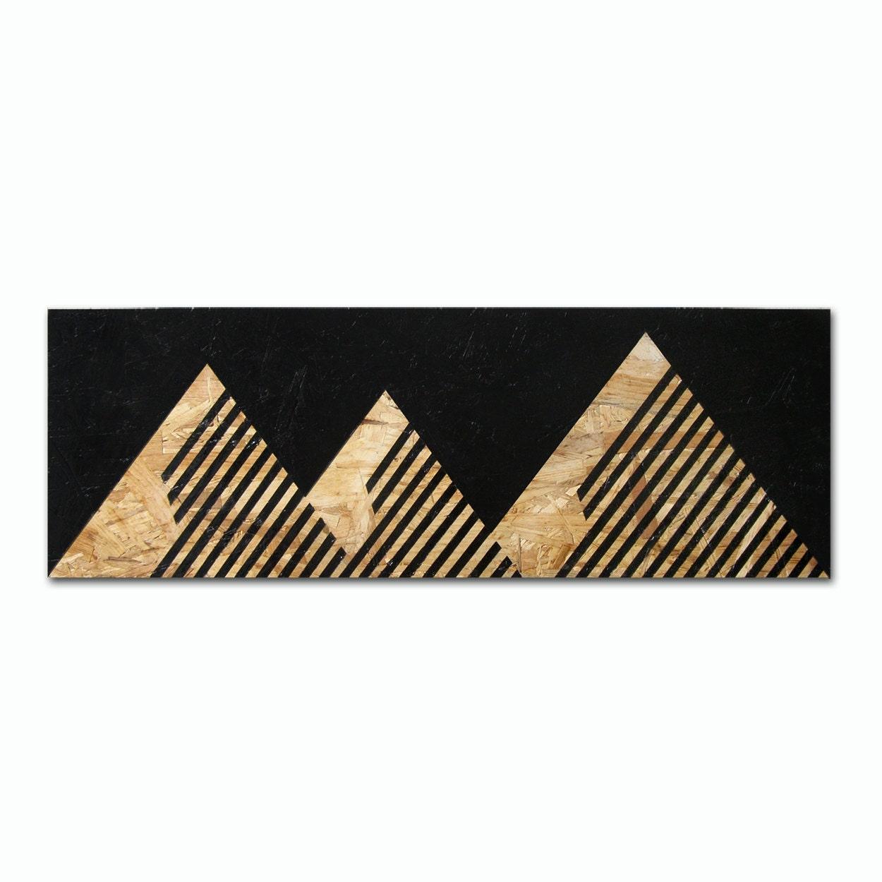 montagnes de meks peinture acrylique osb acrylique noir. Black Bedroom Furniture Sets. Home Design Ideas
