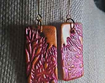 Branch Rectangle Earrings