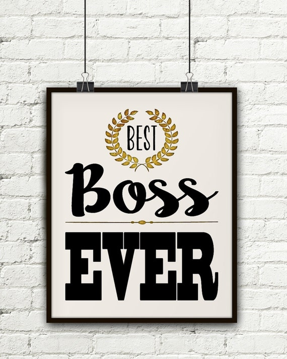 Great Wedding Gifts For Your Boss : Best Boss Ever, Gift For Boss, Boss Gift, Gifts For Your Boss, Gift ...