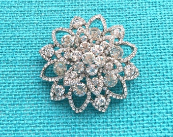 Crystal Silver Rhinestone Brooch Wedding Accessories Bridal Brooch bouquet Hair comb Wedding Cake Brooch