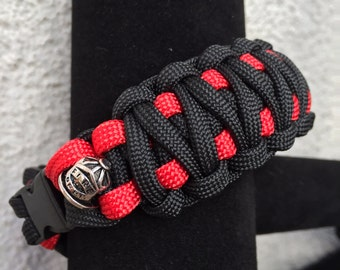 Firefighter king cobra paracord bracelet