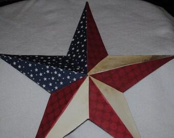 American Flag Inspired Tin Star