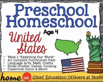 Homeschool Preschool USA Unit