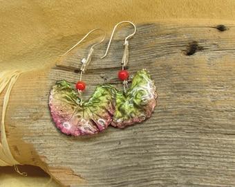Ginko leaves earrings.