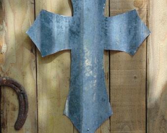 Corrugated Metal Cross