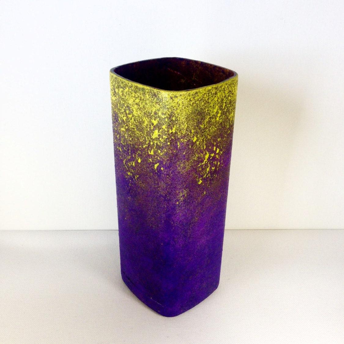 Vase candle holder recycled glass liquor bottle art hand for Liquor bottle vases