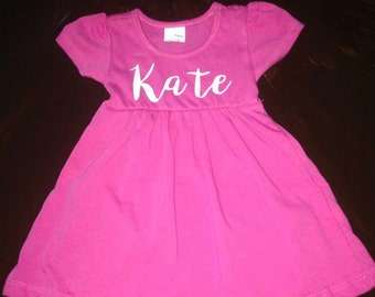 Personalized Cap Sleeve Dress Toddler/Baby