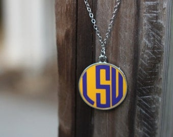 LSU Necklace Purple and Gold LSU Necklace Purple and Gold Necklace LSU Jewelry Tigers Necklace