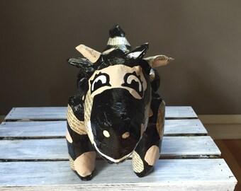 Romance Novel Cow-Paper Mache Animal-Whimsical Creature