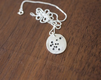 Aquarius Constellation Necklace Zodiac Necklace - Gift for her January Birthday Gift Sterling Silver Aquarius Pendant Tiny Aquarius Star