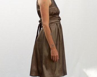 Gold Obi Dress
