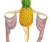 Pineapple Art Tropical Fruit Wall Art for Kitchen Tropical Wall Decor Pineapple Artwork