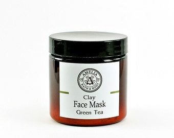 Face Mask | Clay Mask, Face Scrub, Facial Care, All Natural, Vegan Skin Care, Facial, Gift Idea For Her, Gift Idea For Him | Green Tea