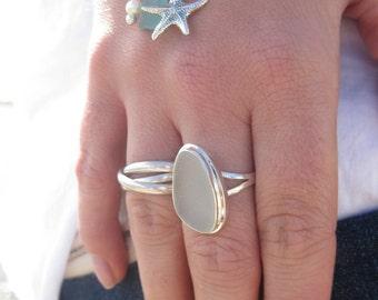 Adjustable Bangle Bracelet | Sea Glass Bangle Bracelet | Beach Glass Bangle Bracelet | Adjustable Sea Glass Bangle | Bangle Bracelet |