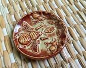 Bee - Bee Dish - Ceramic Honey Bee - Ceramic Trinket Dish - Handmade Pottery - Deseret
