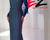 Vogue 8741 Ultra EZ Easy 1990s Dress Front Back Tucks Wrapped Bodice Size 12 14 16 Uncut Vintage Sewing Pattern 1993