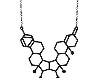 Small Gender Necklace - Matte Black