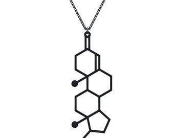 Testosterone Necklace - Matte Black