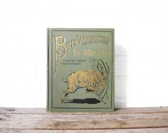 Vintage Billy Whiskers Book - Billy Whiskers In Mischief - 1926 Hardcover Illustrated Picture - F. G. Wheeler 1926 Saalfield Publishing Co