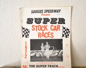 1972 Stock Car Races Souvenir Program
