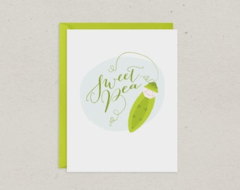 Sweet Pea Baby Shower Card