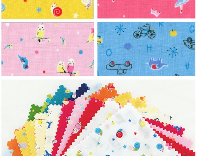 "Lecien Japan 5"" x 5"" Charm Pack Minny Muu Spring Cute fabric set 42 pieces"