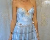 Whimsy Bustier Dress... fairy mid summer nights dream fairytale bridesmaid prom formal wedding flower floral woodland pixie fantasy