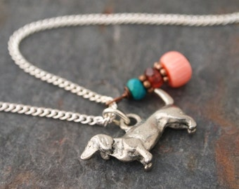 Dachshund Gemstone Necklace