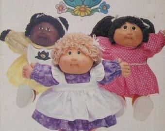 CABBAGE PATCH KIDS Sewing Pattern ~ Vintage Doll Dress Pinafore Apron Panties Bib Dolls Clothes 6509