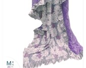 Embroidered Gift, Minky Baby Blanket, Purple Crib Blanket, Baby Girl Blanket, Baby Blanket, Floral Baby Blanket, Lavender Blanket