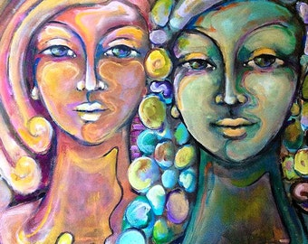 "Original Painting Titled ""Sisters"" (30x40)"