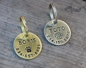 Personalized dog ID tag - Hand stamped disk