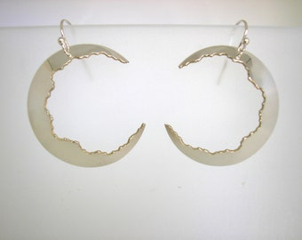 Sterling Crater Dangle Earrings