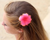 Plumeria Hair Clip, 3 inch, Pink   Flower Clip,  Pink Flower Hair Accessory
