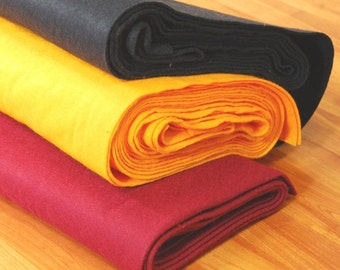 """Premium Wool Blend Felt by the Yard - 72"""" Wide, Over 30 Colours Available"""