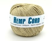 Natural Twine, 1mm Hemp, 20lb, 430 Feet,  Twine,  Hemp String, Macrame  Cord, Hemp Fiber -T72
