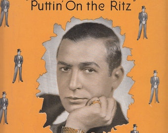 With You 1929 Sheet Music Puttin' On the Ritz Harry Richman Irving Berlin